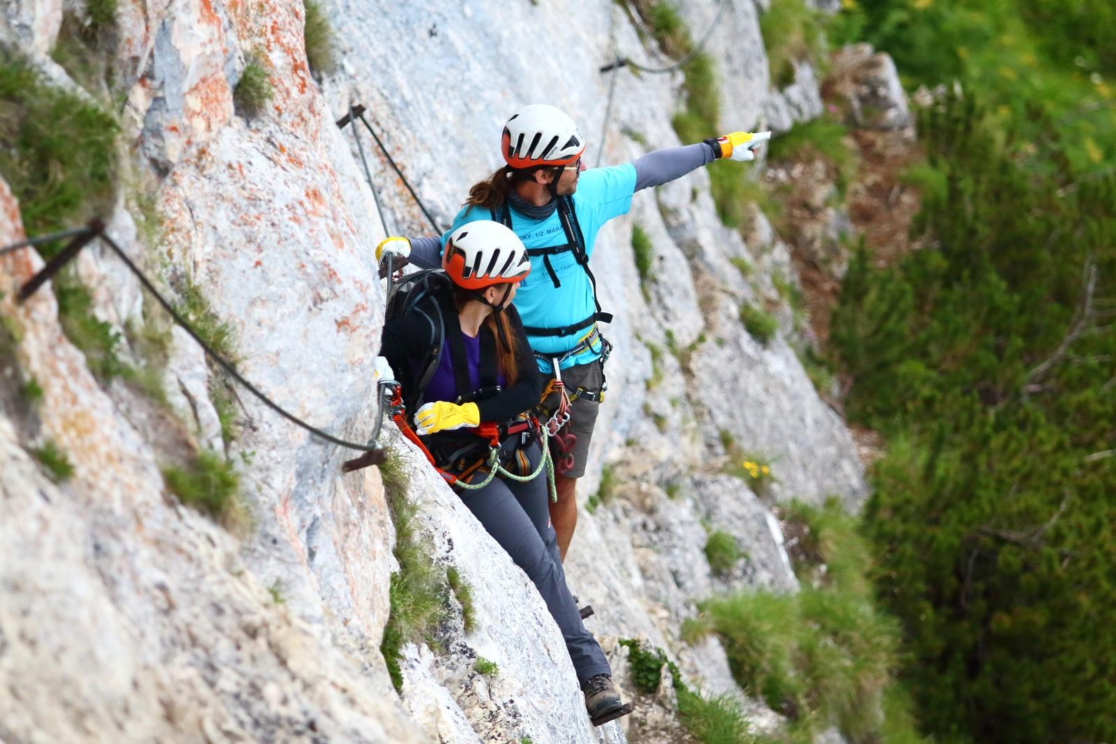 Klettersteig Rakousko : Hany výstup na großer donnerkogel intersport klettersteig
