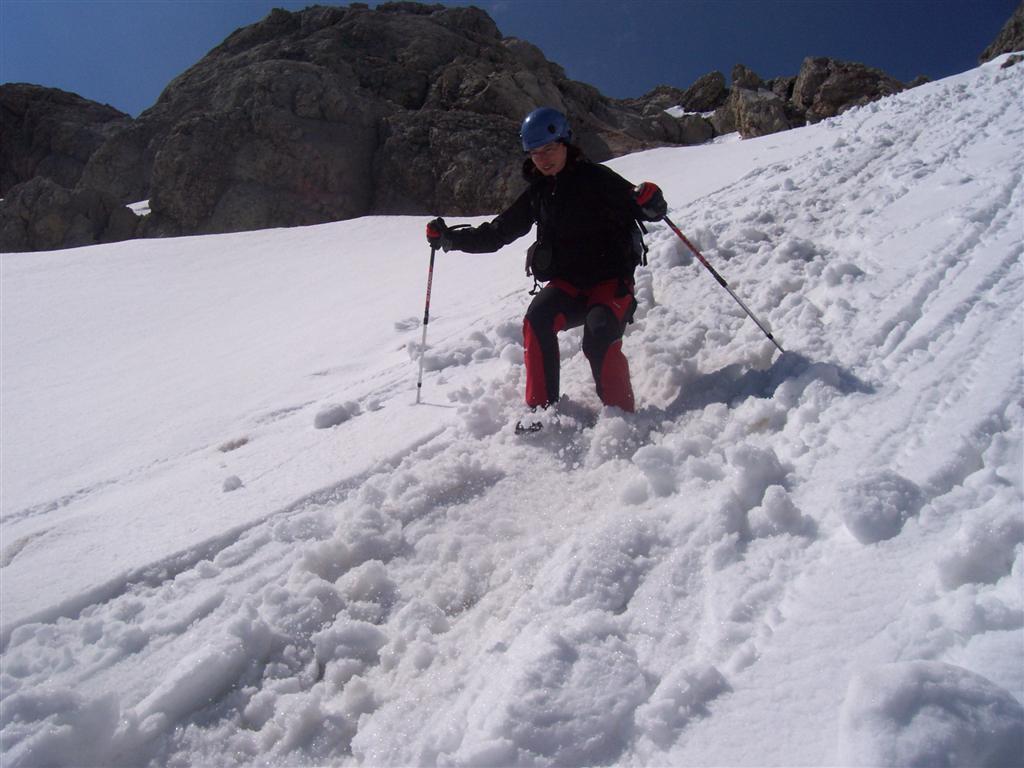 Klettersteig Rakousko : Hany sestup od klettersteig königsjodler hochkönig