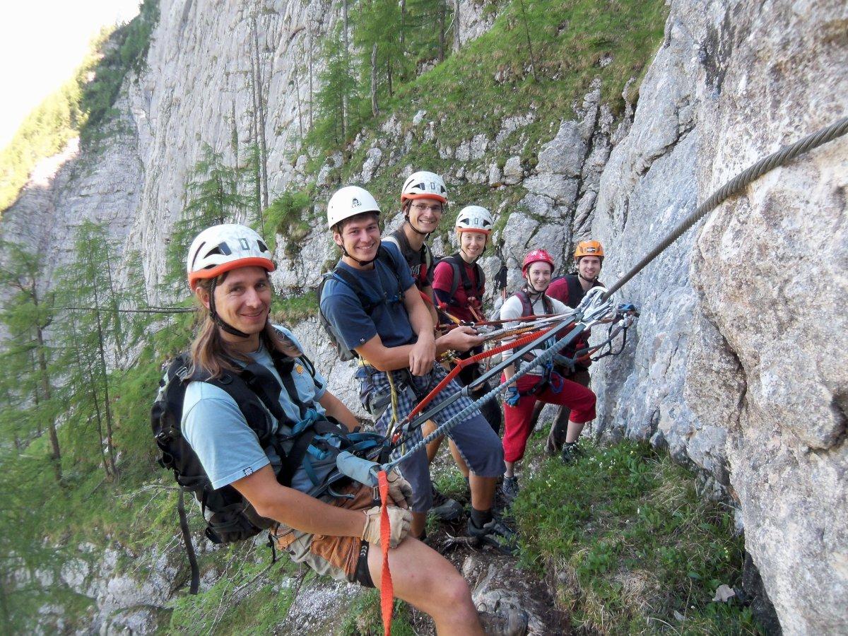 Klettersteig Seewand : Hany seewand klettersteig horní část rakousko solná