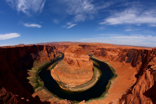 Horseshoe Bend vyhlídka na řece Colorado, Arizona, USA