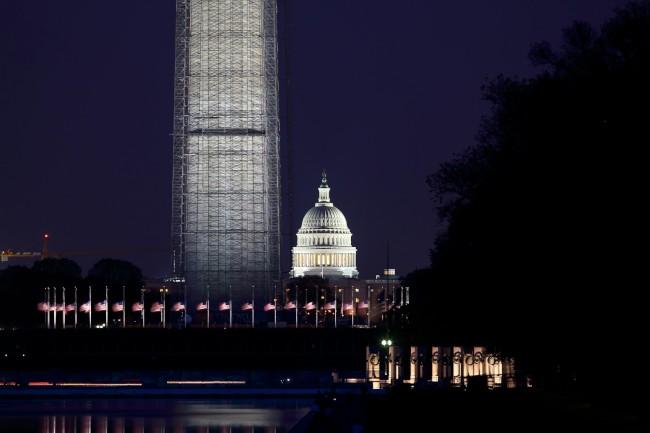 Noční focení ve Washingtonu, D.C., Spojené státy americké